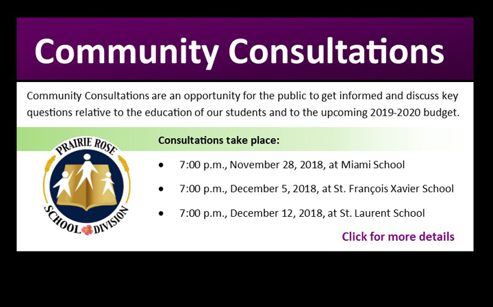 Community Budget Consultations